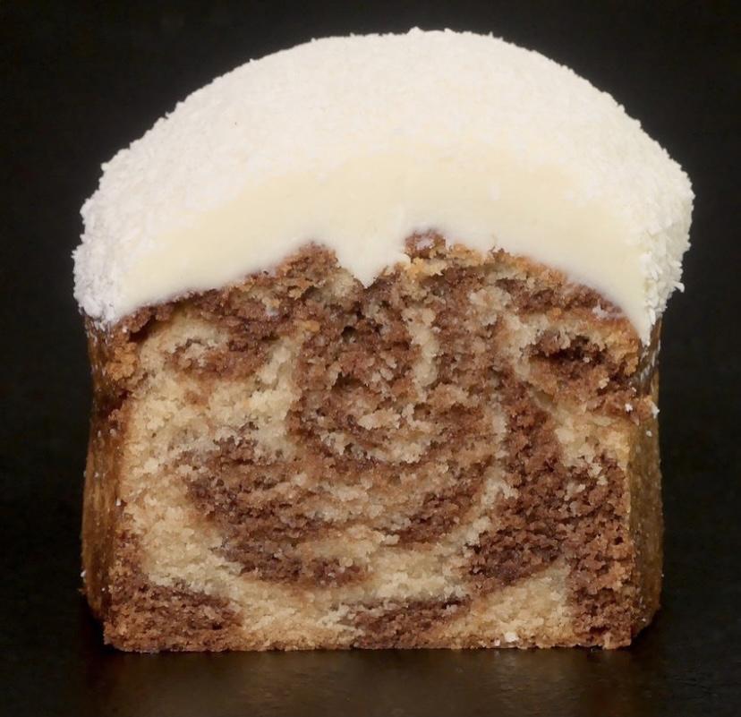 Cake marbré coco